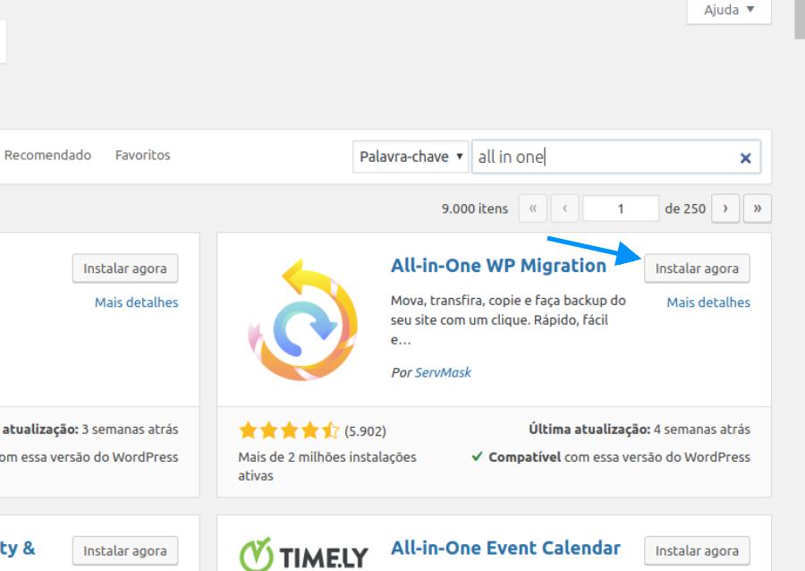 Como migrar site WordPress com All in One WP Migration