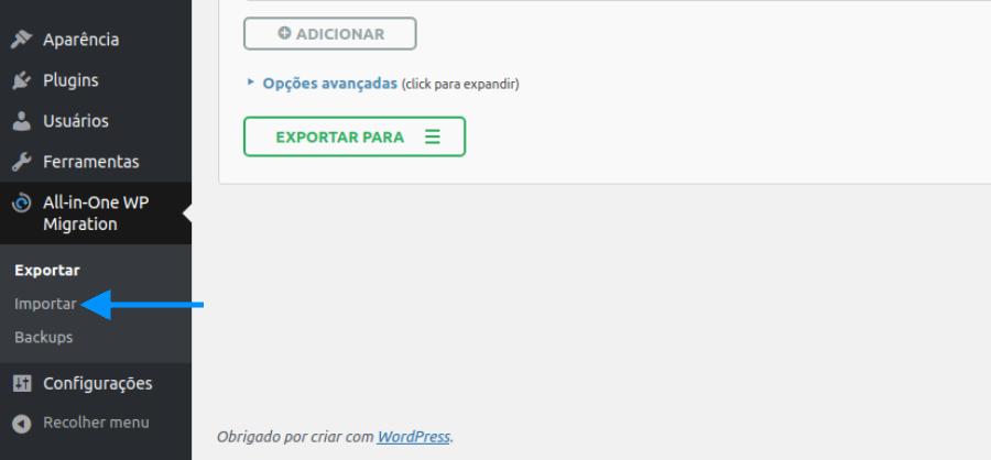 Migrar site WordPress para outra hospedagem ou domínio