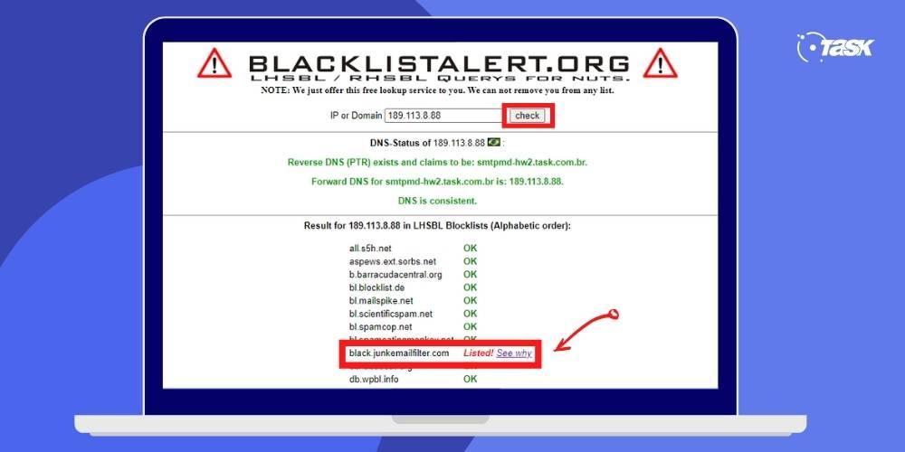 Como retirar IP de blacklist