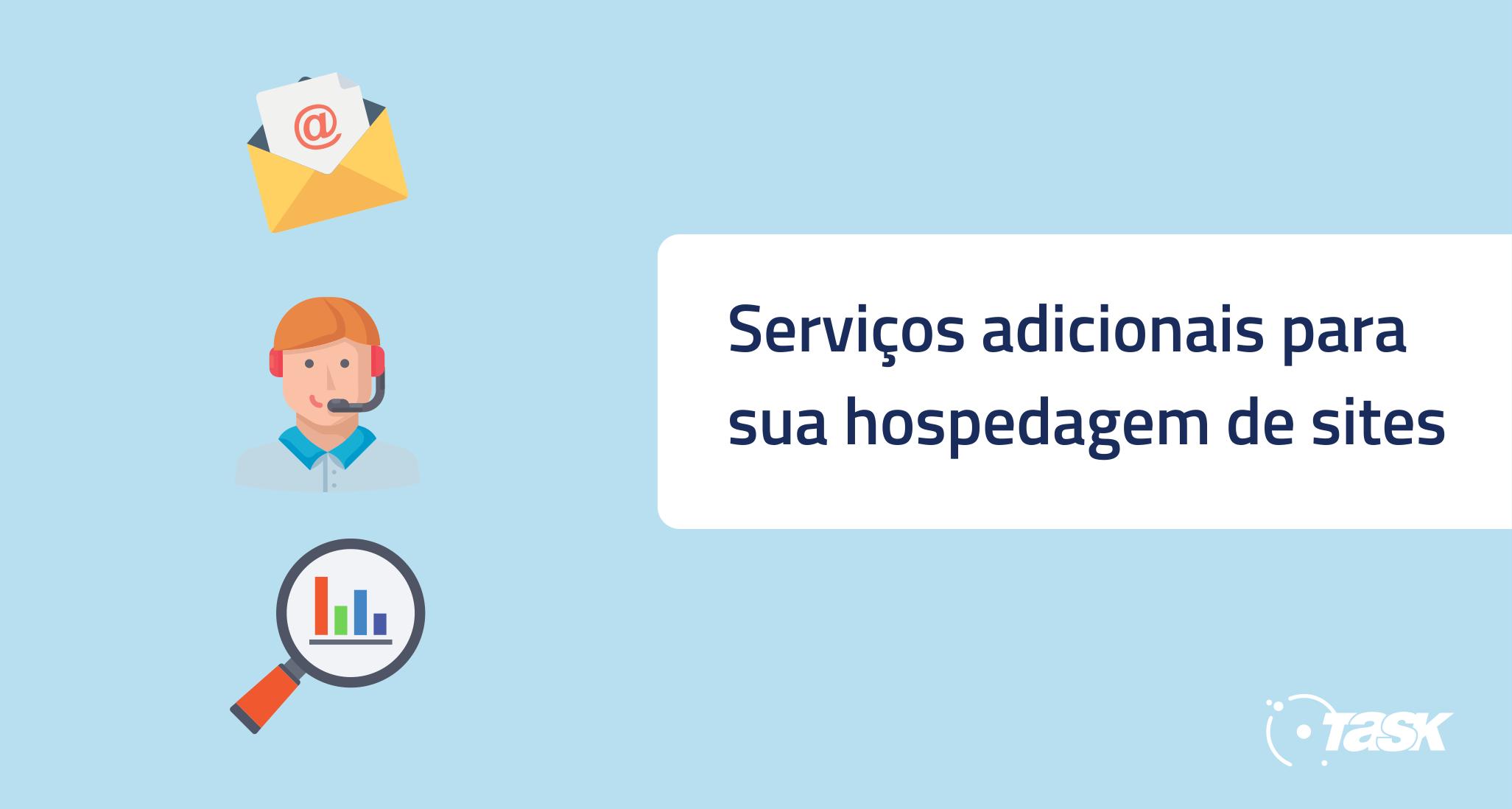 Serviços adicionais para hospedagem de site